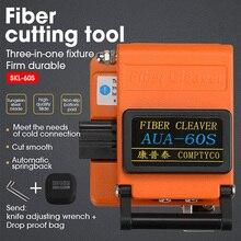 Montage trois en un de coupeur de câble de couperet de Fiber de AUA 60S orange de Fiber optique nue pour le saut de queue de câble optique en cuir