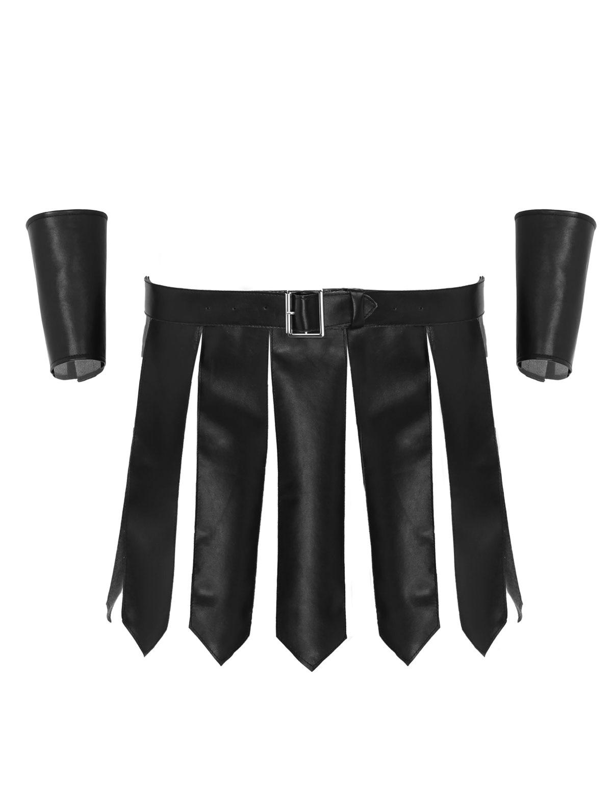 Men/'s Leather Studded Kilt Underwear Skirted Fancy Dress Costume Brief Panties