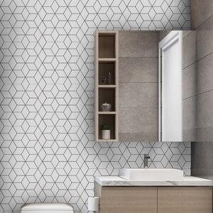 Самоклеющаяся мозаика Funlife для ванной комнаты, водостойкая Наклейка на стену для кухни, Современный домашний декор своими руками в скандина...