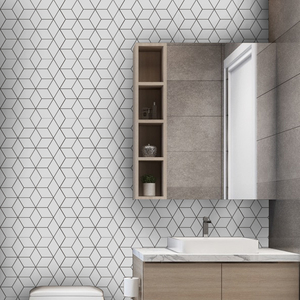 Image 5 - Funlife Tile Sticker Kitchen Backsplash Wall Sticker Self Adhesive Mosaic Tiles Bathroom Waterproof DIY Nordic Modern Home Decor