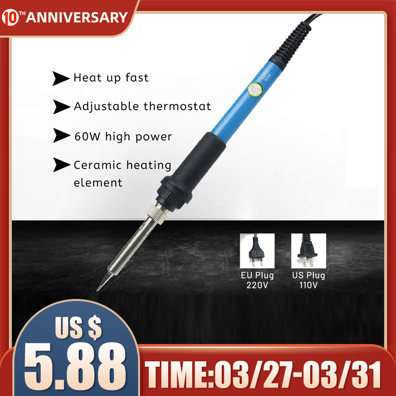 60W Electric Soldering Iron Pen Carving Pyrography Tool Wood Burning Embossing Soldering Pen Set Temperature Adjustable
