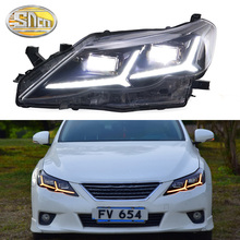 Car Styling LED Headlight For Toyota Mark X Reiz 2010 - 2012 LED DRL Dynamic Turn Signal Strip Projector Lens Head Lamp Assembly free shipping vland factory headlamp for focus headlight led 2015 assembly modified cars projector lens head lamp