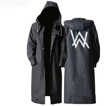 Stylish EVA Black Adult Raincoat Pattern Outdoor Men's Long Style Hiking Poncho Environmental rain coat