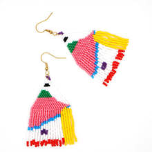 Go2boho Earrings For Women 2019 MIYUKI Fringed Earring Colorful Boho Pendientes Mujer Handmade Loom Beads Summer Fashion Jewelry