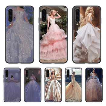 Love Wedding dress Phone case hull For Samsung Galaxy A 50 51 20 71 70 40 30 10 E 4G S black funda trend prime soft back image
