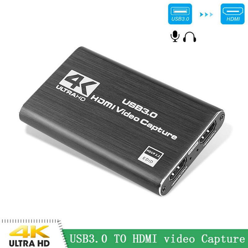 4K <font><b>HDMI</b></font> Game <font><b>Capture</b></font> <font><b>Card</b></font> USB3.0 1080P <font><b>Capture</b></font> <font><b>Card</b></font> Device for Streaming Live Broadcasts <font><b>Video</b></font> Recording Computer Accessories image