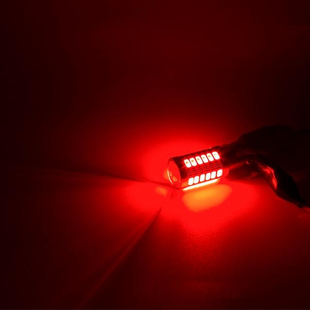 LYMOYO 2pcs T20 LED P21/5W BAY15D 1157 1156 ba15s BAU15S P21W PY21W 7443 5630 33SMD Car Tail Stop Fixed Light brake Bulb led 12v