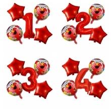 Street-Balloons Sesame Birthday-Party-Decorations Baby Shower Globos Kids Toys Cartoon