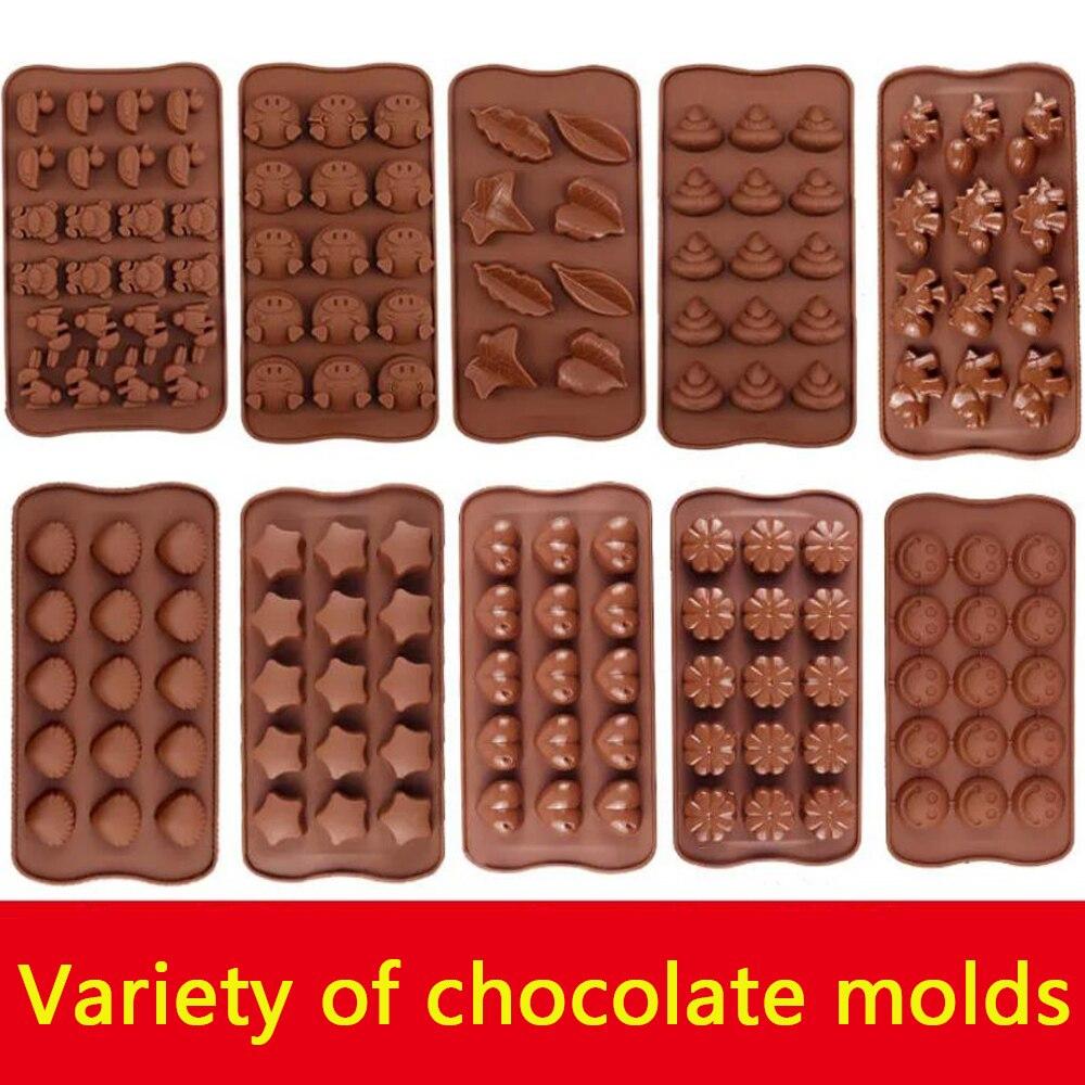 DIY Silicone Chocolate Mold dinosaur mold animal cake biscuit Mold Baking flip sugar candy silicone DIY SDP