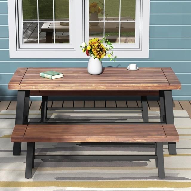 Three Pieces Outdoor Furniture Garden Picnic Set 4