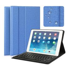 Bluetooth Keyboard PU Leather Case For iPad 2017 2018 / iPad Air 1 2 9.7 inches Magnetic Cover For Apple IOS Tablet + Keyboard wireless bluetooth keyboard for apple ipad air 2 tablet case leather cover with removable mobile english russian keyboard layout
