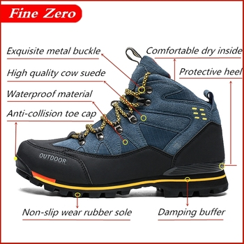 High Top Men s Boots Male Rubber Combat Ankle Work Safety Oxfords Autumn Winter Snow