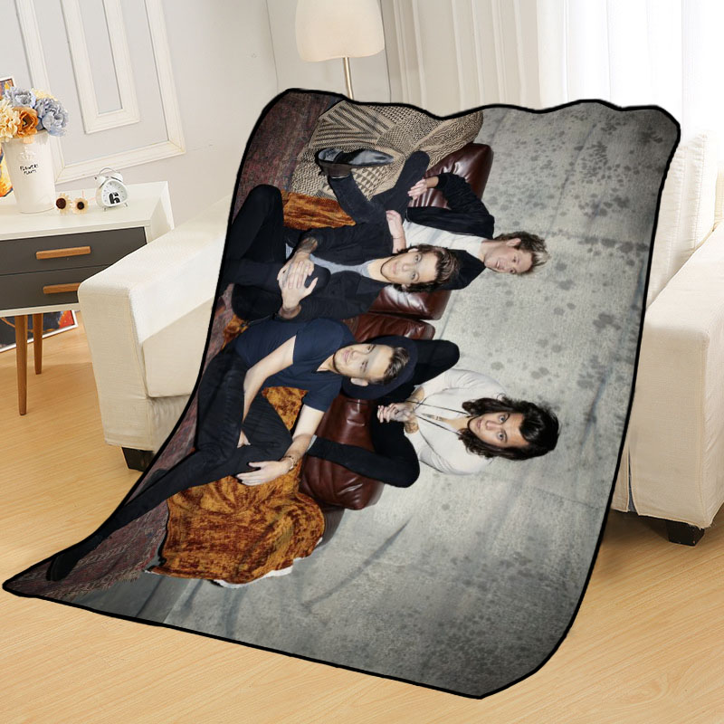 New Arrival One Direction Blankets Printing Soft Nap Blanket On Home/Sofa/Office Portable Travel Cover Blanket-4
