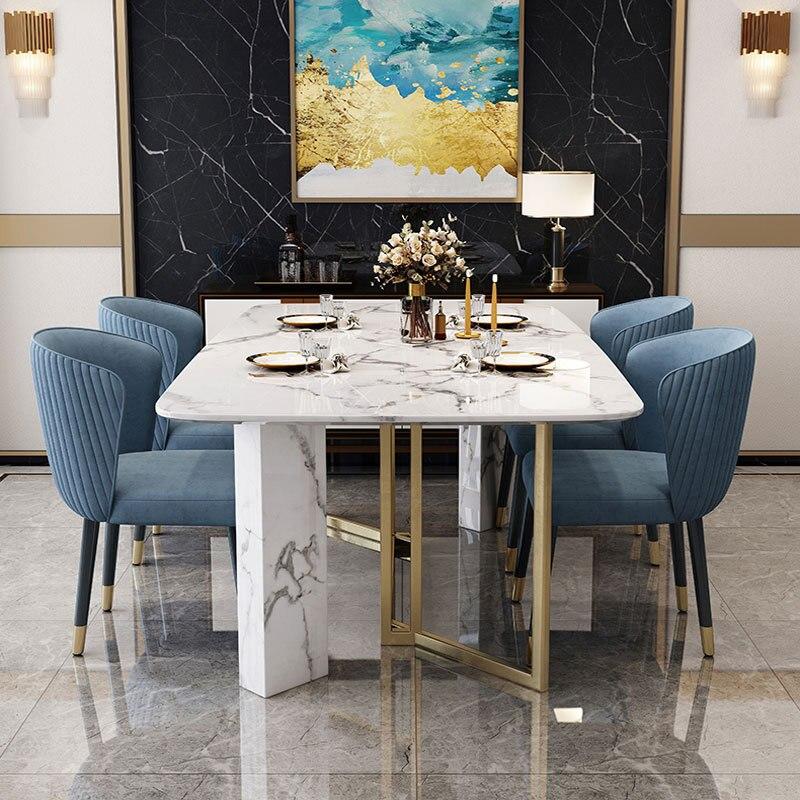 Mobili Da Cucina Nordici Di Lusso Moderni Set Da Pranzo In Marmo Per Sala Da Pranzo E Sedia Da Pranzo Dining Tables Aliexpress