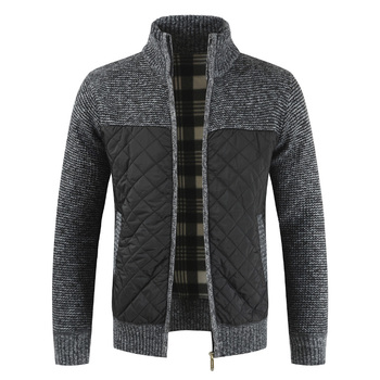 Fashion Winter Spring New Men's Jacket Slim Fit Stand Collar Zipper Men Solid Cotton Thick Warm - discount item  40% OFF Coats & Jackets