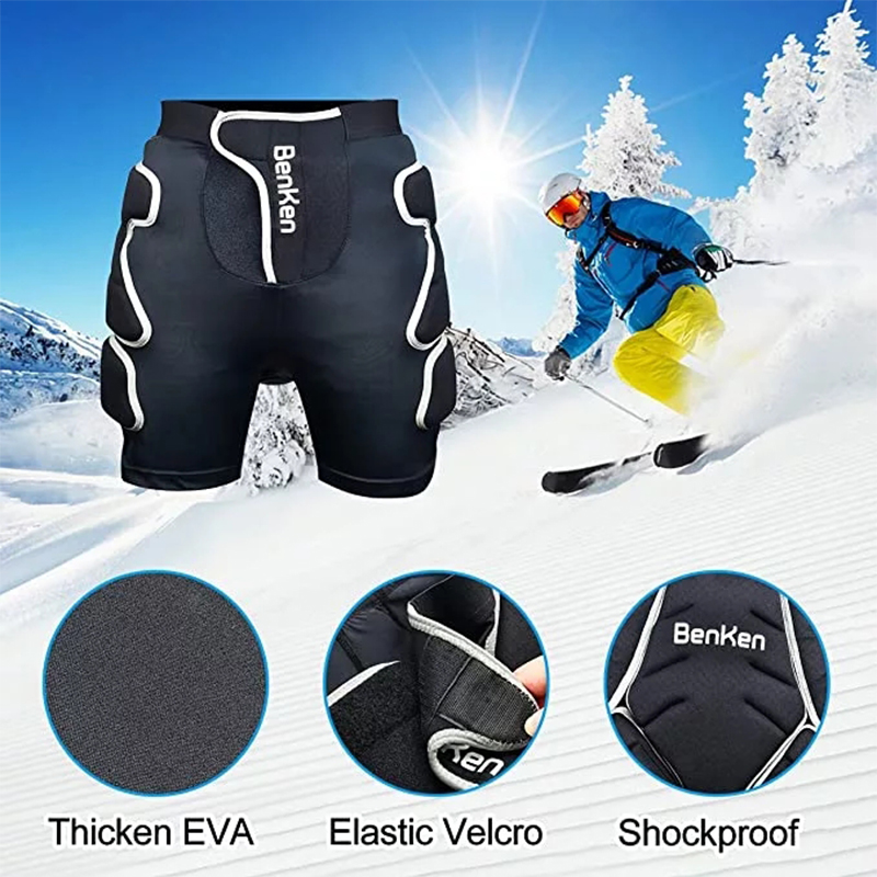 BenKen sports protective gear ski protection quilted shorts are suitable for snowboarding and skiing anti-collision equipment