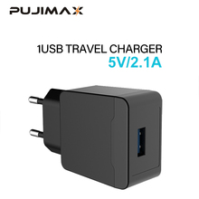 PUJIMAX USB Charger Adapter 1 Port For iPhone 5V 2.1A Wall/Travel Portable Mobile Phone Charging Samsung