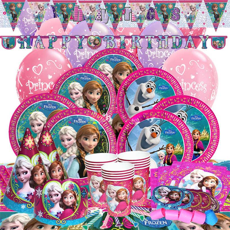 8 pçs/lote Disney Congelado Anna Elsa Princesa aniversário decorações do partido crianças Bonito guardanapo para fontes do partido do chuveiro do bebê