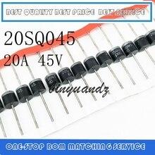 Diodo Schottky Original de alta calidad, envío gratuito, 100 unidades/lote, 20SQ045, 20A, 45V, R 6, PEC, nuevo
