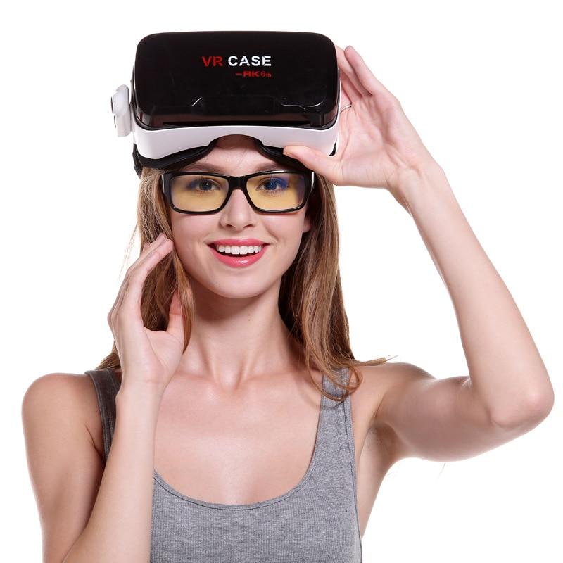 Original Assot Vr Case 6  Leather Cardboard Helmet Virtual Reality Vr Glasses Stereo Headphones Mobile Phone Ultra Hd Is Super R
