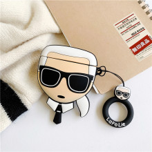 3D Fashion Designer Karl Lagerfeld Hipster Headphone Cases For Apple Airpods 1/2