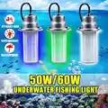 Lumière sous marine extérieure de 0 30m IP68 résistante à l'eau pour la pêche de nuit de mer LED leurre allumant la lampe d'attracteur de poisson de DC12V 50/60W