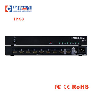 Image 1 - Free shipping hdmi splitter AMS H1S8 1 HDMI  Input, 8 HDMI Output support 1080p 3D 4K HD resolution for led outdoor display