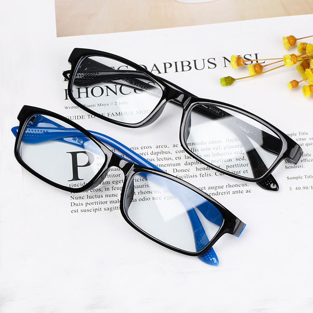 1PC New Unisex Reading Glasses Lightweight Transparent Rimless Elders Reading Glasses Vision Care Magnifying Eyewear