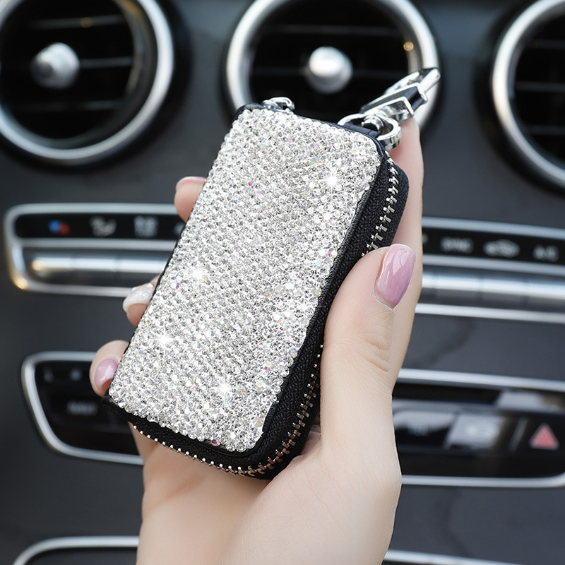 Image 3 - 1 Pcs Men & Women Car Key Bag Wallet Crystal Key Case Fashion Housekeeper Holders Luxury for BMW LADA Accessories-in Key Case for Car from Automobiles & Motorcycles