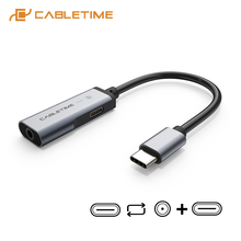 2021 CABLETIME USB C Adapter Digital to Aux 3.5mm auricolare Jack OTG Splitter per Huawei P30 LG Xiaomi 10 Samsung Note 10 C328