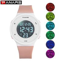Fashion Colorful Children Watch Digital LED Alarm Date Sports Kids Wrist Watch Silicone Sports Waterproof Watch Relogio Gift