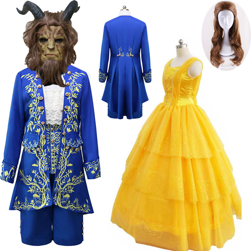 Halloween Movie Beauty and the Beast The Beast Prince Adam Cosplay Costume Mask