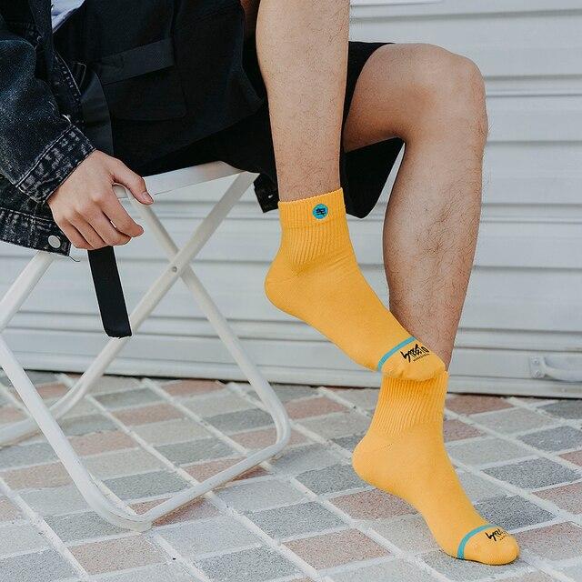 Fashion Cotton Men And Women Socks Comfortable And Breathable Harajuku Streetwear Trend Socks