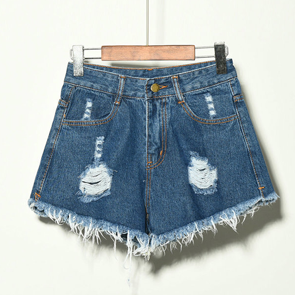Littlerossa <font><b>Sexy</b></font> Jeans <font><b>Shorts</b></font> <font><b>Women</b></font> Summer Hole <font><b>Shorts</b></font> <font><b>Mini</b></font> Denim <font><b>Short</b></font> Feminino Casual Jean Black <font><b>Shorts</b></font> Vintage Plus Size image
