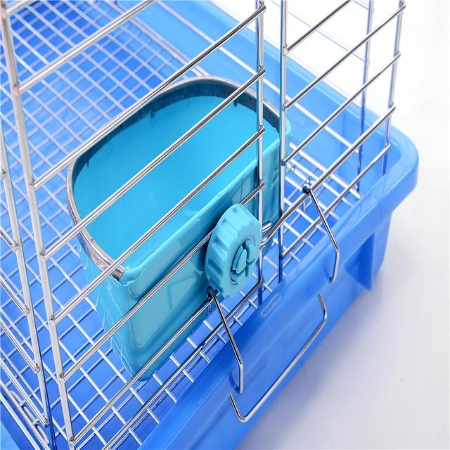 Pet Hamster Rabbit Fixed Food Bowl Small Animal Guinea Pig Drinker Dispenser Hedgehog Squirrel Feeder Food Bowls Supplies 5