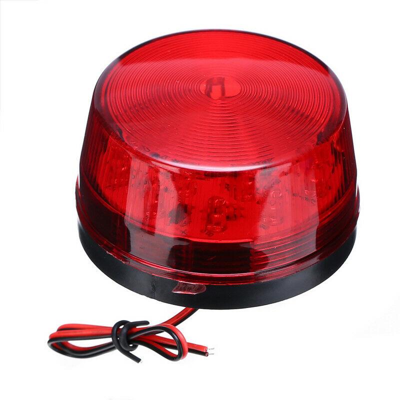 12V Strobe Car LED Flashing Circular Signal Light Magnetic Ceiling Police Light Warning Lamp For Cargo Truck Vehicle School Bus