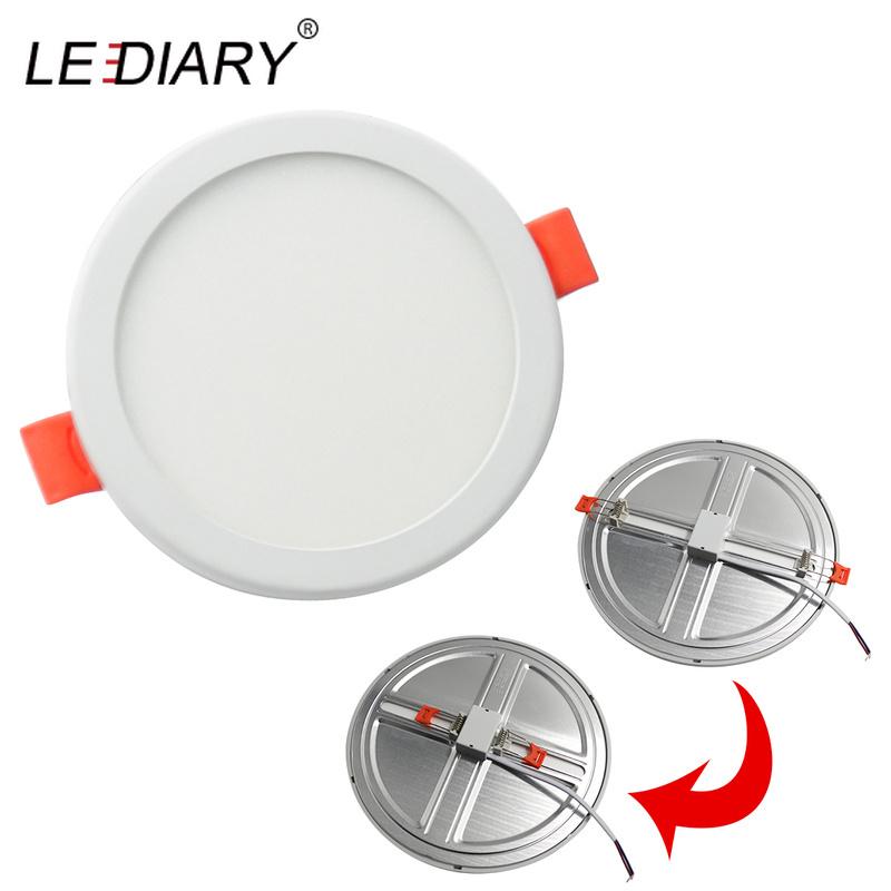 LEDIARY 100V-240V 6W 20W LED Spot Panel Light Cut Hole Adjustable 50mm to 210mm SMD Driverless Downlights Recessed Ceiling Lamp image