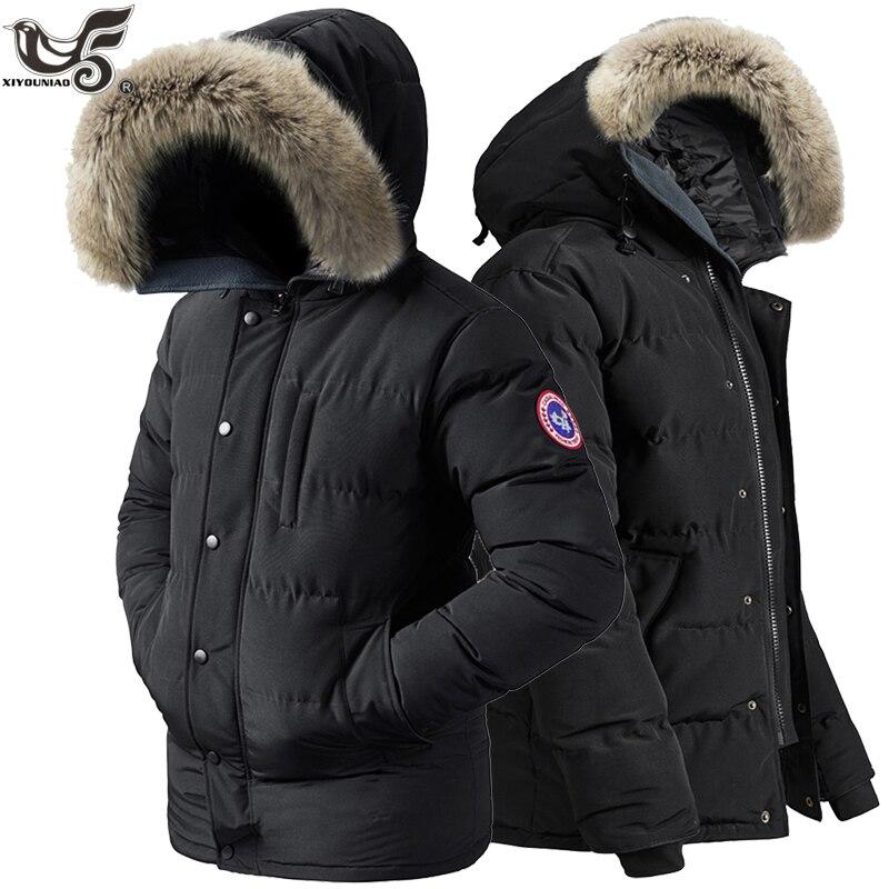Brand Winter Jacket men 6XL 7XL 8XL Thick Warm   Parka   Fur Hooded men Jackets and Coats outwear Windbreaker snow overcoat clothing