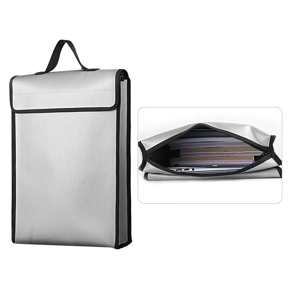 Image 3 - Fireproof Document Bags Waterproof Liquid Silicone Material Heat Insulation 1200℃ Fire Resistant Safe Bag for File Cash PassportFile Folder   -