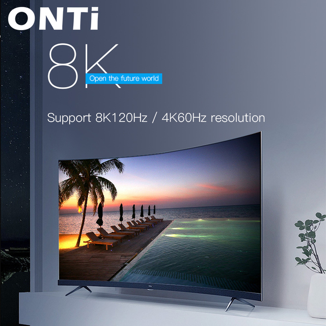 ONTi Optical Fiber Cables 4K 8K HDMI 2.0 2.0b 2.1 48Gbps Ultra High Speed HDR ARC HDCP 2.2 Speaker TV Video Fibre Optique