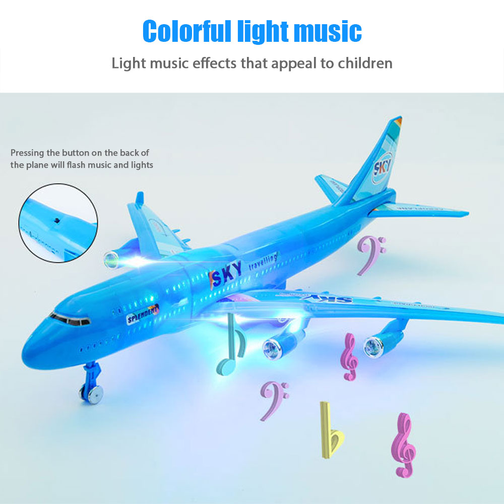New Mini Airplane Toys Electric Airplane Inertial Plane Model Moving Flashing Lights Sounds Kids Toy DIY Aircraft Gifts Children
