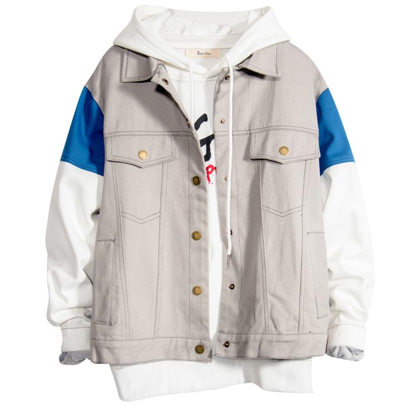 Jacket Men Blue Black Big Size Men Jackets And Coats Streetwear Jackets Cotton Erkek Kot Ceket Men Jean Jackets And Coats II50JK