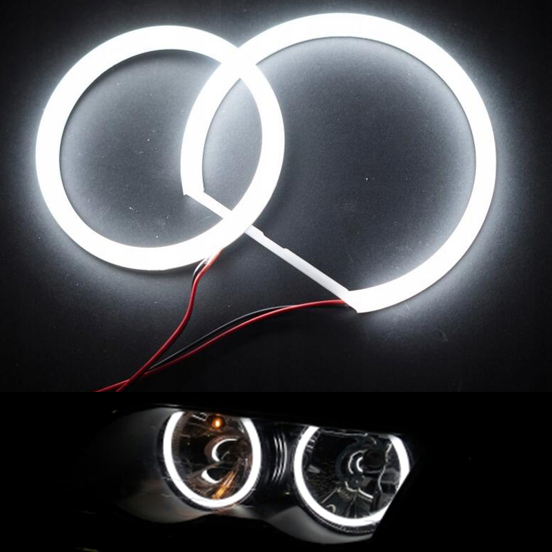 Car-Styling 2x106mm+2x131mm White Headlight Halo Cotton Light Car Smd <font><b>Led</b></font> Anger <font><b>Eyes</b></font> For <font><b>BMW</b></font> <font><b>E90</b></font> No Projector Auto Lighting image