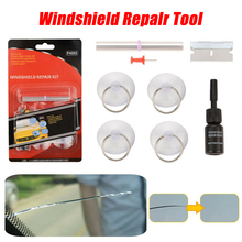 8pcs Glass Repair Car Windshield Repair Tool DIY Window Repair Tools Windscreen Glass Scratch Crack Restore