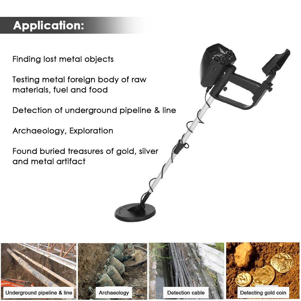KKmoon MD4030 Profesional Bawah Tanah Metal Detector Portable Ringan Emas Detektor Treasure Hunter Tracker Seeker