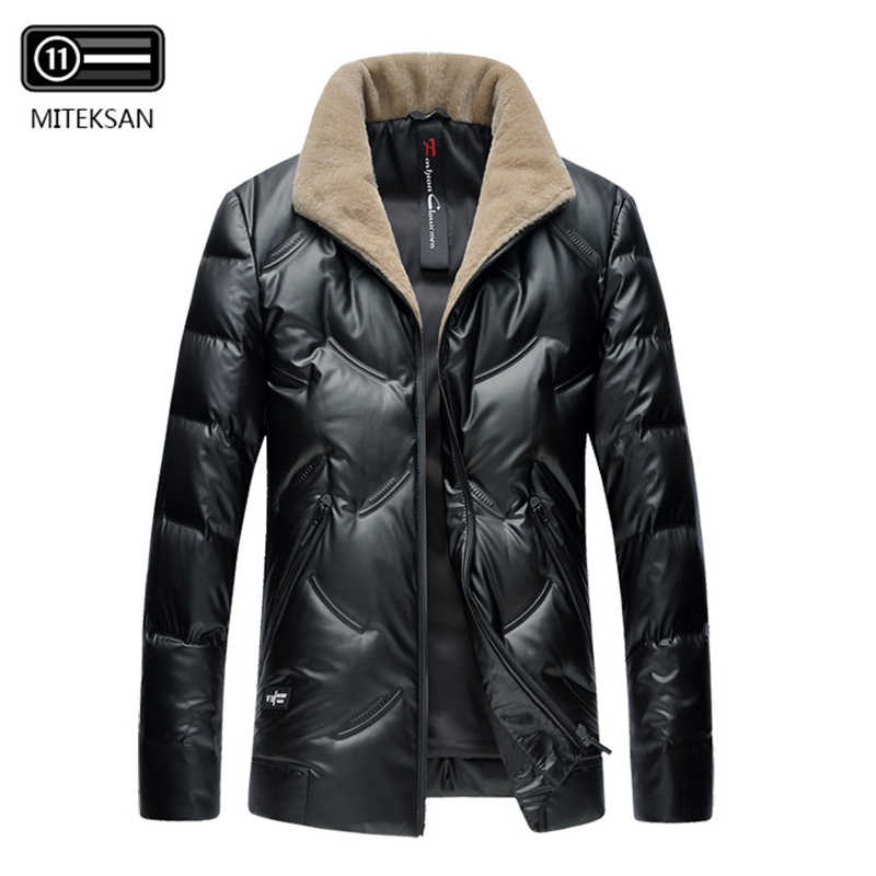 Mens Canada Down Jacket Canadian Wool Fur Collar Hooded Winter Casual Coat Thicken Solid Doudoune Homme Fashion Outerwear