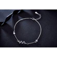 Женский серебряный браслет на свадьбу hyh модный из стерлингового