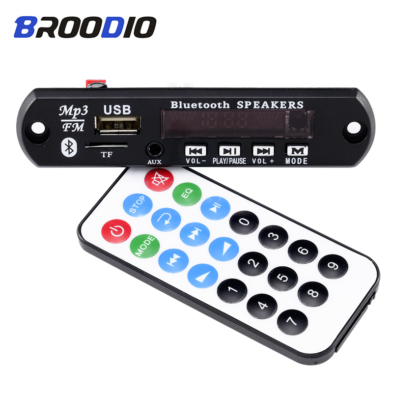Car Audio USB TF FM Radio Module Wireless Bluetooth 5V 12V MP3 Decoder Board MP3 Lossless Music Player Support Handsfree Call