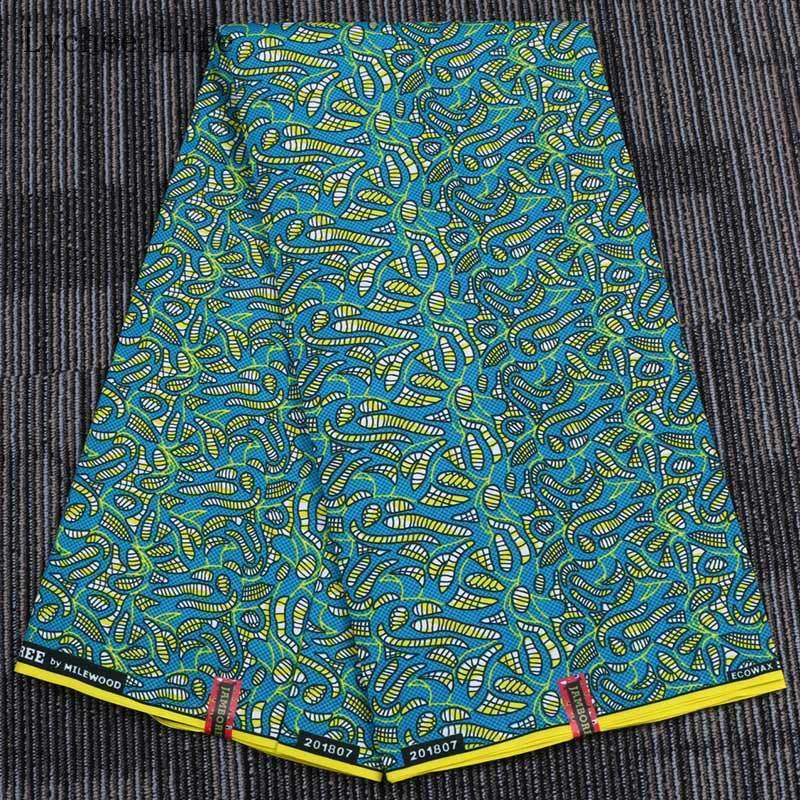 1Yard Wax Print Fabric African Batik Double-sided Geometric Clothing Sewing DIY