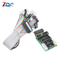 Emulator V8 JTAG Adapter Konverter für J Link mit 8PCS 4 Pin 6 Pin 10 Pin 20 Pin grau Flach Band Daten Kabel Dupont Draht|Instrumententeile & Zubehör|Werkzeug -